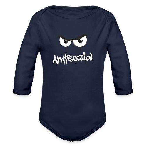 Antisozial - Baby Bio-Langarm-Body