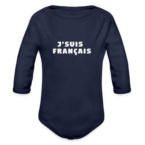 J'SUIS FRANÇAIS - Body Bébé bio manches longues