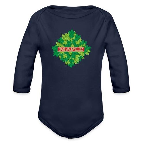 maple - Baby Bio-Langarm-Body