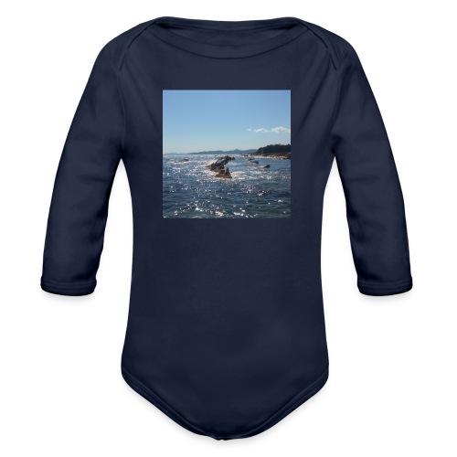 Mer avec roches - Body Bébé bio manches longues