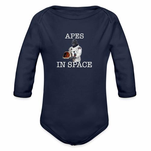 Apes in Space - Organic Longsleeve Baby Bodysuit
