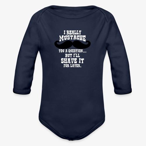 Funny Mustache T Shirt - Organic Longsleeve Baby Bodysuit