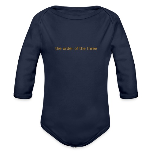 the order of the three 1st shirt - Organic Longsleeve Baby Bodysuit
