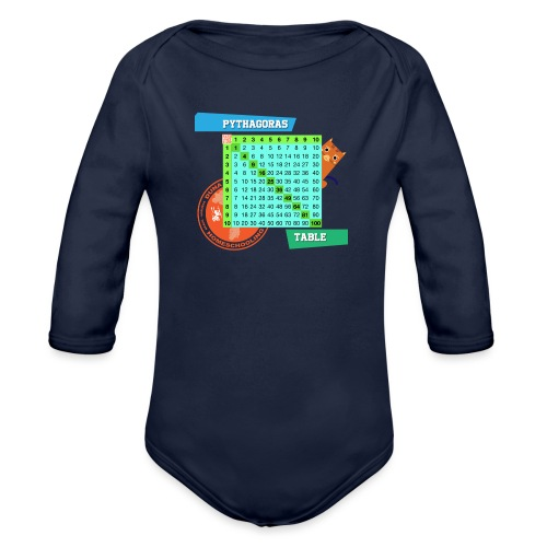 Pythagoras table - Økologisk langermet baby-body