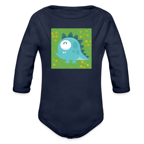 Dino - Baby Bio-Langarm-Body
