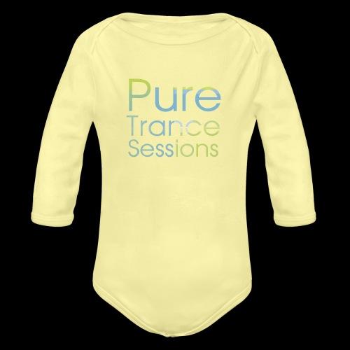 pts text hd - Organic Longsleeve Baby Bodysuit