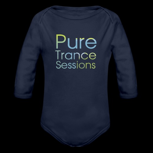 pts text hd - Organic Longsleeve Baby Bodysuit