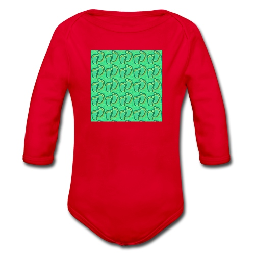 kidfootprint a7 - Organic Longsleeve Baby Bodysuit