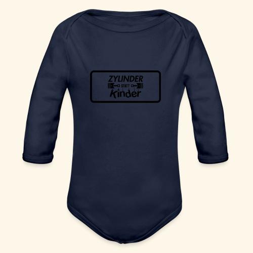 Zylinder Statt Kinder - Baby Bio-Langarm-Body