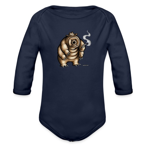 Smokey the Water Bear - Organic Longsleeve Baby Bodysuit