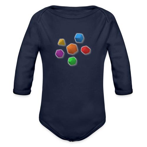 PolyDicePin - Organic Longsleeve Baby Bodysuit
