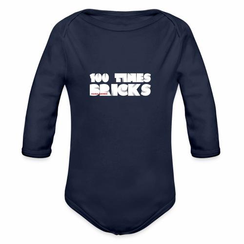 100 TIMES BRICKS retrò - Body ecologico per neonato a manica lunga