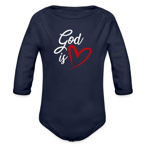 God is love 2B - Body ecologico per neonato a manica lunga