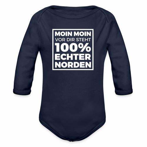 Moin Moin - vor dir steht 100% echter Norden - Baby Bio-Langarm-Body