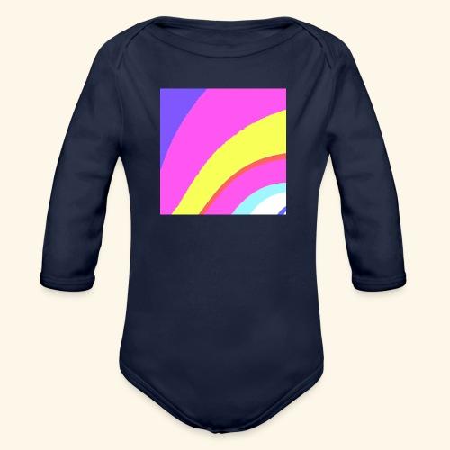 Curva colorata - Body ecologico per neonato a manica lunga