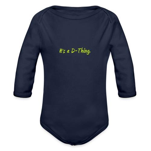 DTWear - It`s a D-Thing - Yellow / Geel - Baby bio-rompertje met lange mouwen