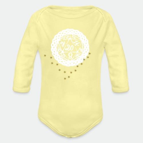 Snowflake Starglitter - Organic Longsleeve Baby Bodysuit