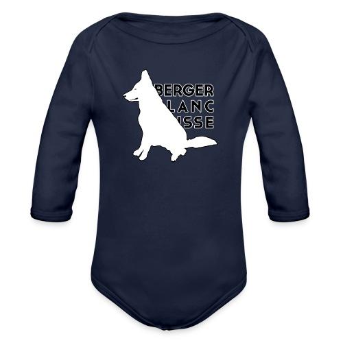 White Dog - Berger Black Suisse - Ekologiczne body niemowlęce z długim rękawem