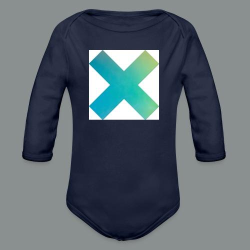 blue X - Body ecologico per neonato a manica lunga