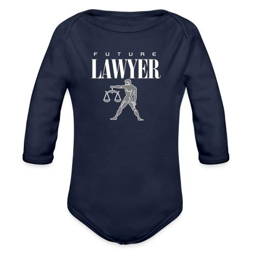FUTURE LAWYER. Felpa Praticante Avvocato ottimista - Organic Longsleeve Baby Bodysuit