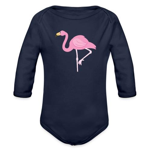 Flamingo - Baby bio-rompertje met lange mouwen