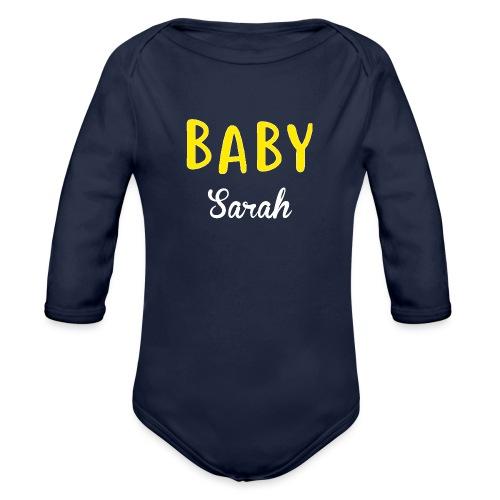 baby sarah black design - Organic Longsleeve Baby Bodysuit