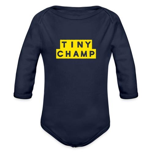 tiny champ blocks design - Organic Longsleeve Baby Bodysuit