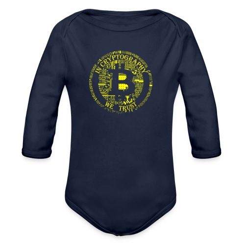 In cryptography we trust 2 - Organic Longsleeve Baby Bodysuit