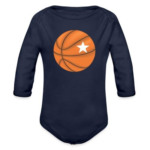 Basketball Star - Baby bio-rompertje met lange mouwen