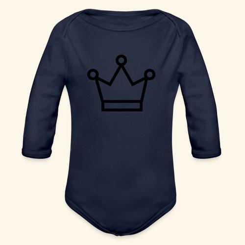 The Queen - Langærmet babybody, økologisk bomuld
