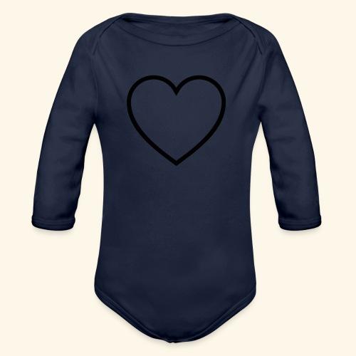 heart 512 - Langærmet babybody, økologisk bomuld