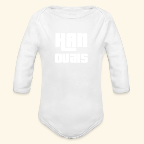 Han Ouais GTA blanc - Body Bébé bio manches longues