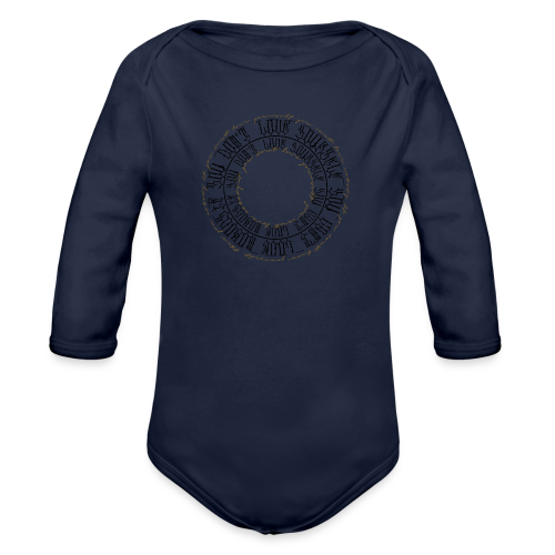 CALLIGRAPHY-CIRCLE - Body ecologico per neonato a manica lunga