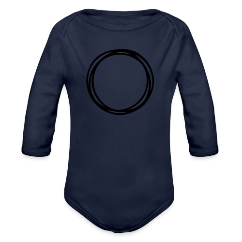 Circles and circles - Organic Longsleeve Baby Bodysuit