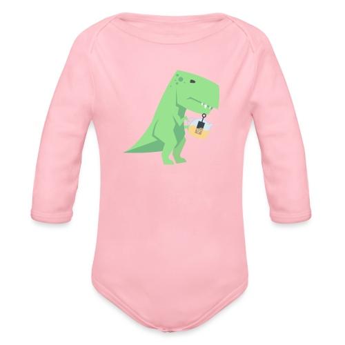 Tea-Saurus - Baby Bio-Langarm-Body