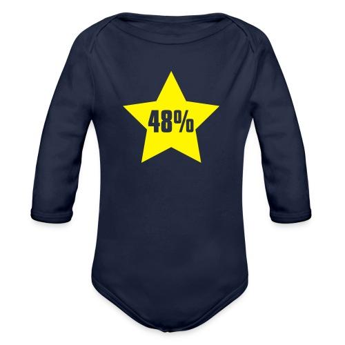 48% in Star - Organic Longsleeve Baby Bodysuit