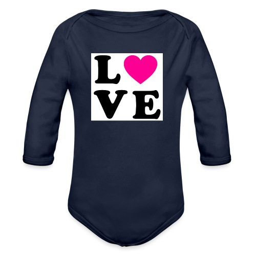 Love t-shirt - Body Bébé bio manches longues