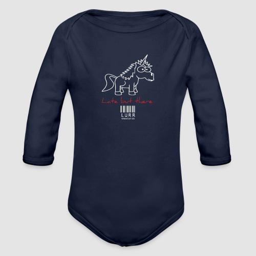 lurr unicorn - Organic Longsleeve Baby Bodysuit