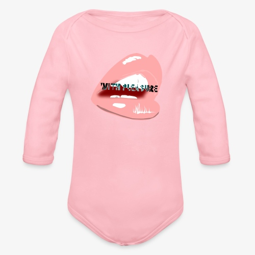 With Pleasure Mouth Logo - Organic Longsleeve Baby Bodysuit