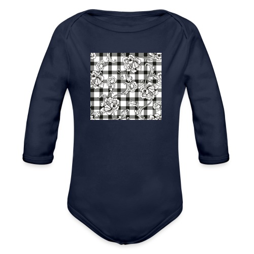 CHECK pattern throw pillow - Organic Longsleeve Baby Bodysuit