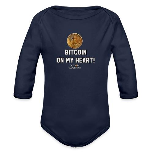 Bitcoin on my heart! - Body ecologico per neonato a manica lunga
