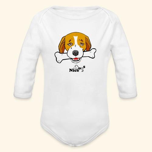 Nice Dogs Semolino - Body ecologico per neonato a manica lunga