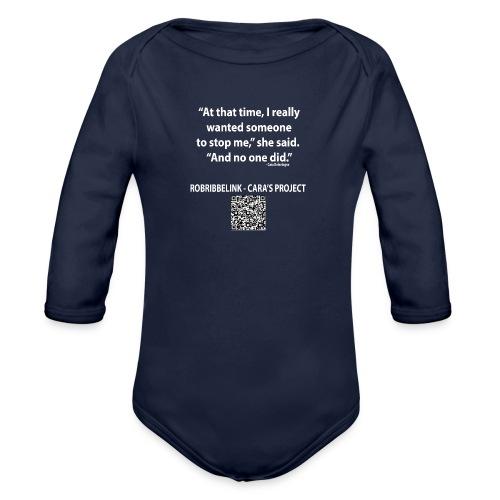 Caras Project fan shirt - Organic Longsleeve Baby Bodysuit