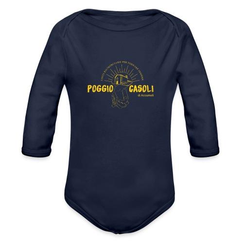 Poggio Casoli_Istituzionale_Giallo - Body ecologico per neonato a manica lunga