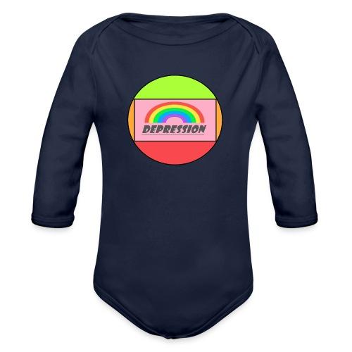 Depressed design - Organic Longsleeve Baby Bodysuit