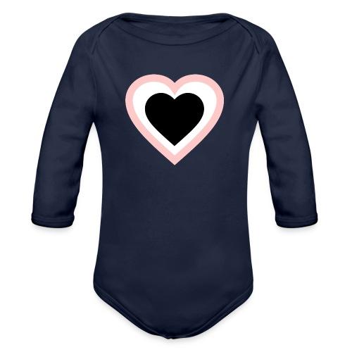 Heartbeat Romantic Heart - Baby Bio-Langarm-Body