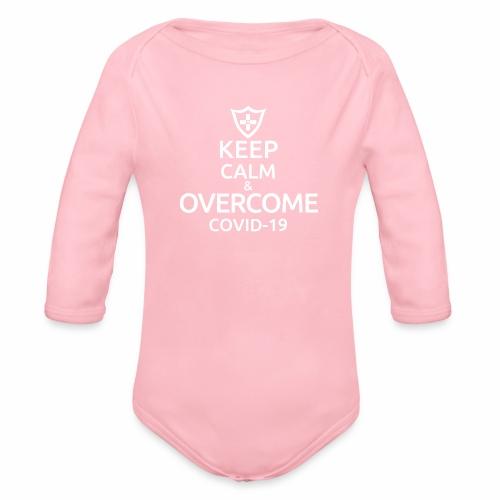Keep calm and overcome - Ekologiczne body niemowlęce z długim rękawem