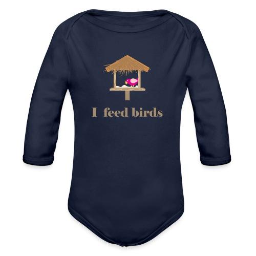 I feed birds - Vauvan pitkähihainen luomu-body