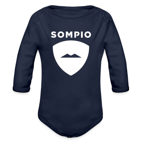 Sompio logo sleeve - Vauvan pitkähihainen luomu-body