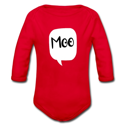 bubble moo black design - Organic Longsleeve Baby Bodysuit